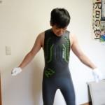 トライアスロン用ウェットスーツを試着しました。